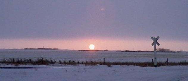 Wintry Sunset near Davidson